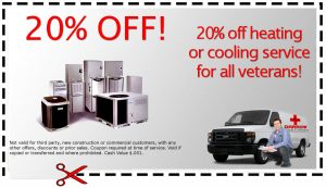 Fredonia Heating & Cooling Military Discount Coupon
